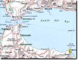 mappa di Ceuta